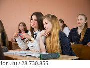 Купить «Школьные уроки», фото № 28730855, снято 9 апреля 2018 г. (c) Иван Карпов / Фотобанк Лори