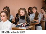 Купить «Школьный урок», фото № 28730859, снято 9 апреля 2018 г. (c) Иван Карпов / Фотобанк Лори