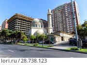 """Купить «Мечеть """"Аждарбек"""". Также известна как Голубая мечеть. Баку. Азербайджан», фото № 28738123, снято 26 сентября 2015 г. (c) Евгений Ткачёв / Фотобанк Лори"""