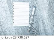 Купить «Empty torn page», фото № 28738527, снято 20 сентября 2018 г. (c) Яков Филимонов / Фотобанк Лори
