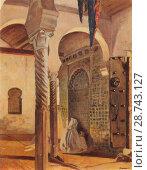 Mammeri Azouaou - Interior of the Kairoiine Mosque Fez. Редакционное фото, фотограф Artepics / age Fotostock / Фотобанк Лори