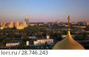 Купить «Russian orthodox church at Poklonnaya hill», видеоролик № 28746243, снято 12 июля 2018 г. (c) Вадим Пономаренко / Фотобанк Лори
