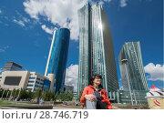 Купить «Казахстан. Астана. Красивый городской пейзаж», фото № 28746719, снято 18 июля 2018 г. (c) Сергеев Валерий / Фотобанк Лори