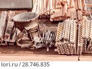 Купить «Строительный инструмент на открытой монтажной площадке», фото № 28746835, снято 2 февраля 2014 г. (c) Сергеев Валерий / Фотобанк Лори