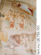 Купить «Ancient Surviving Frescoes In Walls Of Caves Of David Gareja Monastery Complex. Davit Gareji Monastery Is Located Is Southeast Of Tbilisi, In Historical Region Sagarejo. It Was Founded In 6th Century.», фото № 28750151, снято 23 октября 2016 г. (c) easy Fotostock / Фотобанк Лори
