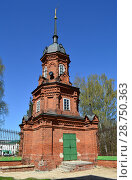 Купить «Угловая башня ограды, построена в 1880-х годах. Волоколамский Кремль. Город Волоколамск. Московская область», эксклюзивное фото № 28750363, снято 6 мая 2015 г. (c) lana1501 / Фотобанк Лори