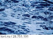 Купить «Фон. Морская вода с пеной», фото № 28751191, снято 3 июня 2018 г. (c) Татьяна Белова / Фотобанк Лори