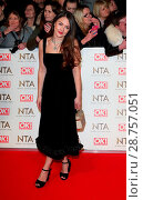 Купить «National Television Awards at The O2, Peninsula Square in London - Red carpet arrivals Featuring: Lacey Turner Where: London, United Kingdom When: 25 Jan 2017 Credit: WENN.com», фото № 28757051, снято 25 января 2017 г. (c) age Fotostock / Фотобанк Лори