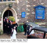 Купить «The funeral of ex-England manager Graham Taylor takes place at St. Mary's Church in Watford. Taylor managed Watford FC twice, famously during the time...», фото № 28768767, снято 1 февраля 2017 г. (c) age Fotostock / Фотобанк Лори