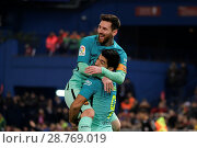 Купить «Atletico Madrid v FC Barcelona - Copa Del Rey Semi-final: First Leg Featuring: Lionel Messi Where: Madrid, Spain When: 01 Feb 2017 Credit: Oscar Gonzalez/WENN.com», фото № 28769019, снято 1 февраля 2017 г. (c) age Fotostock / Фотобанк Лори