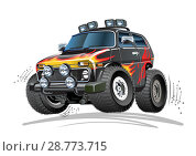 Купить «Cartoon 4x4 car», иллюстрация № 28773715 (c) Александр Володин / Фотобанк Лори