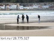 Купить «Four Boys on the beach of La Concha in San Sebastián, Donostia, Guipúzcoa, Spain», фото № 28775327, снято 20 января 2019 г. (c) age Fotostock / Фотобанк Лори