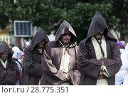 Купить «Men disguised as Jedi from the Star Wars saga, Guipúzcoa, Spain», фото № 28775351, снято 16 августа 2018 г. (c) age Fotostock / Фотобанк Лори