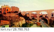 Los Arcos aqueduct in summer. Teruel (2013 год). Стоковое фото, фотограф Яков Филимонов / Фотобанк Лори