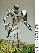 Купить «Фигура человека из металлолома. Ванг Саи. Таиланд», фото № 28781279, снято 20 июля 2018 г. (c) Александр Романов / Фотобанк Лори