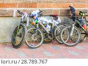 Купить «Russia, Samara, July 2017: Women's beautifully decorated bicycles waiting for their owners », фото № 28789767, снято 20 августа 2017 г. (c) Акиньшин Владимир / Фотобанк Лори