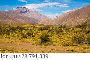 Купить «Andes near Las Lenas», фото № 28791339, снято 9 февраля 2017 г. (c) Яков Филимонов / Фотобанк Лори