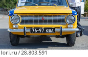 Old classic Lada car equipped for police. Стоковое фото, фотограф Акиньшин Владимир / Фотобанк Лори