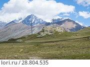 Купить «ZERMATT, SWITZERLAND. JULY 4 2017: Mountain landscape, in the Pennine Alps in the canton of Valais», фото № 28804535, снято 4 июля 2017 г. (c) Григорий Стоякин / Фотобанк Лори