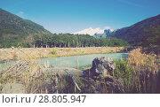 Купить «Valley of river Cauquenes and mountain Tronador», фото № 28805947, снято 5 февраля 2017 г. (c) Яков Филимонов / Фотобанк Лори
