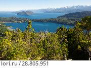Купить «Lago Nahuel Huapi and Cerro Campanario», фото № 28805951, снято 6 февраля 2017 г. (c) Яков Филимонов / Фотобанк Лори