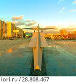 Купить «The IL-2 ground attack aircraft is a monument to the labor and fighting glory of the Kuibyshevites.», фото № 28808467, снято 8 ноября 2017 г. (c) Акиньшин Владимир / Фотобанк Лори