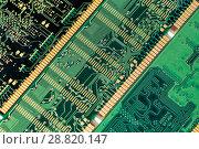 Купить «Модули оперативной памяти, макро», фото № 28820147, снято 27 июня 2018 г. (c) Евгений Ткачёв / Фотобанк Лори
