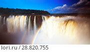 Купить «Garganta del Diablo waterfall on Iguazu River», фото № 28820755, снято 16 февраля 2017 г. (c) Яков Филимонов / Фотобанк Лори