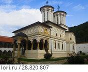 Купить «Monastery Horezu in romanian city», фото № 28820807, снято 22 сентября 2017 г. (c) Яков Филимонов / Фотобанк Лори