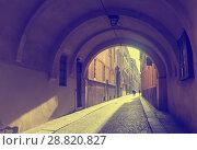 Купить «Narrow streets of Parma», фото № 28820827, снято 5 декабря 2017 г. (c) Яков Филимонов / Фотобанк Лори