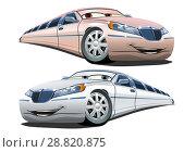 Купить «Vector Cartoon limousines», иллюстрация № 28820875 (c) Александр Володин / Фотобанк Лори