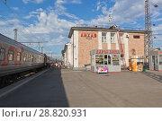 Купить «Железнодорожная станция Лихая в Ростовской области», фото № 28820931, снято 26 июня 2018 г. (c) Николай Мухорин / Фотобанк Лори