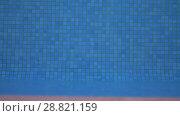 Купить «Blue mosaic pool bottom», видеоролик № 28821159, снято 18 октября 2018 г. (c) Данил Руденко / Фотобанк Лори