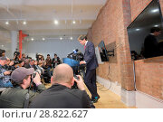 Купить «Milo Yiannopoulos holds a press conference In which he quits Brietbart News Featuring: Milo Yiannopoulos Where: Manhattan, New York, United States When: 21 Feb 2017 Credit: TNYF/WENN.com», фото № 28822627, снято 21 февраля 2017 г. (c) age Fotostock / Фотобанк Лори