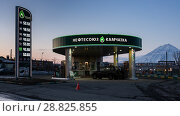 Купить «Автозаправочная станция «Нефтесоюз Камчатка»», фото № 28825855, снято 19 апреля 2018 г. (c) А. А. Пирагис / Фотобанк Лори