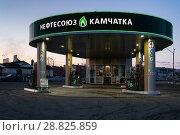 Купить «Автозаправочная станция «Нефтесоюз Камчатка»», фото № 28825859, снято 19 апреля 2018 г. (c) А. А. Пирагис / Фотобанк Лори