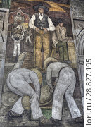 Купить «Wall Mural, 'The Overseer', Painted by Diego Rivera,1923, Secretariate of Education Building, Mexico City, Mexico», фото № 28827195, снято 29 ноября 2017 г. (c) age Fotostock / Фотобанк Лори