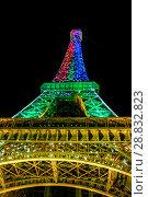 Купить «Tour Eiffel at night», фото № 28832823, снято 19 июля 2013 г. (c) Сурикова Ирина / Фотобанк Лори