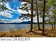 Купить «Казахстан. Озеро Боровое», фото № 28832875, снято 10 июня 2017 г. (c) Сергеев Валерий / Фотобанк Лори