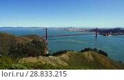 Купить «view of golden gate bridge over san francisco bay», видеоролик № 28833215, снято 9 июля 2018 г. (c) Syda Productions / Фотобанк Лори