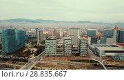 Купить «Panoramic view of modern areas in coastal zone of Barcelona», видеоролик № 28835667, снято 14 марта 2018 г. (c) Яков Филимонов / Фотобанк Лори