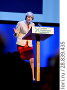 Купить «Prime Minister Theresa May, leader of the Conservative Party, addressing the annual Scottish Conservative Conference at the SECC in Glasgow. Featuring...», фото № 28839435, снято 3 марта 2017 г. (c) age Fotostock / Фотобанк Лори