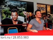 Купить «Peter Andre launches his new fragrance 'Forever Young' and signs copies of his 2017 calendar at the Orchards Shopping Centre in Taunton Featuring: Peter...», фото № 28853983, снято 11 марта 2017 г. (c) age Fotostock / Фотобанк Лори