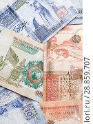 Купить «Jordanian dinars, banknotes close-up», фото № 28859707, снято 19 мая 2018 г. (c) EugeneSergeev / Фотобанк Лори
