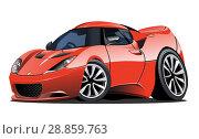 Купить «Cartoon vector car», иллюстрация № 28859763 (c) Александр Володин / Фотобанк Лори