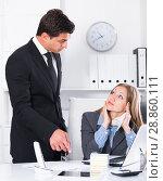 Купить «Businessman feeling angry to coworker», фото № 28860111, снято 20 апреля 2017 г. (c) Яков Филимонов / Фотобанк Лори