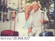 Купить «Mature spouses enjoying joint vacation», фото № 28868927, снято 27 августа 2017 г. (c) Яков Филимонов / Фотобанк Лори