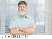 Купить «Bearded pensioner in the Tatar national skullcap.», фото № 28881191, снято 28 января 2018 г. (c) Акиньшин Владимир / Фотобанк Лори