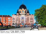 Купить «Новая калининградская синагога. Калининград», эксклюзивное фото № 28881799, снято 8 июля 2018 г. (c) Александр Щепин / Фотобанк Лори
