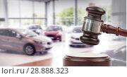 Купить «Gavel and cars auction», фото № 28888323, снято 25 апреля 2019 г. (c) Wavebreak Media / Фотобанк Лори